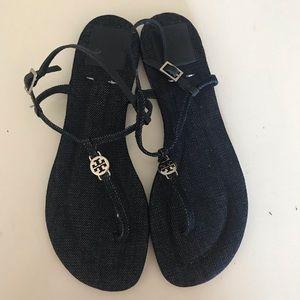 Tory Burch Emmy Denim Sandals